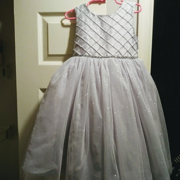 136c416b409a5 Silver Little Girl Dress/Tulle Skirt. M_5acdb98bfcdc3144710c22d4
